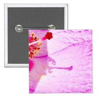 Flower 15 Cm Square Badge