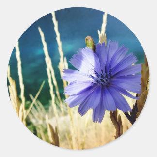 flower 1 round sticker