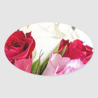 flower-316621 flower flowers rose love red pink ro oval sticker