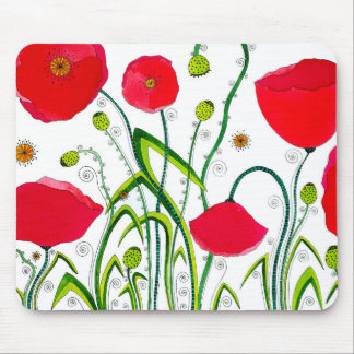 Flower#3 - Wild Red Poppies Mousepad