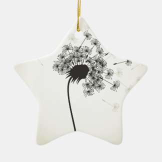 Flower a dandelion ceramic ornament