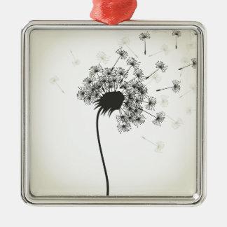 Flower a dandelion metal ornament