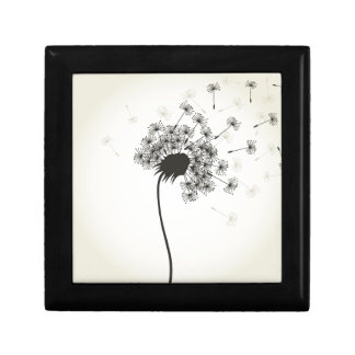 Flower a dandelion small square gift box