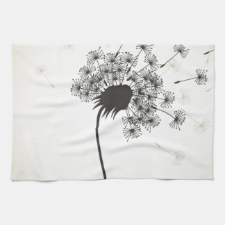 Flower a dandelion tea towel