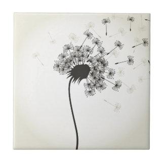 Flower a dandelion tile