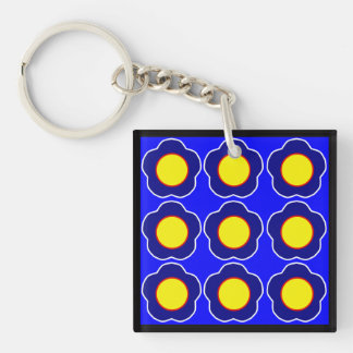Flower Abstract Art Key Ring