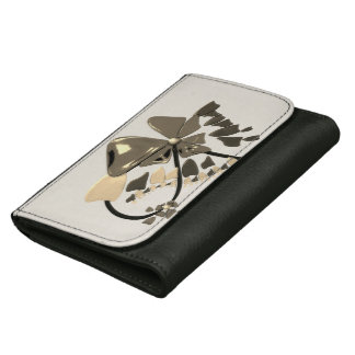 flower abstract design leather wallets
