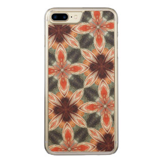 Flower abstract pattern carved iPhone 7 plus case
