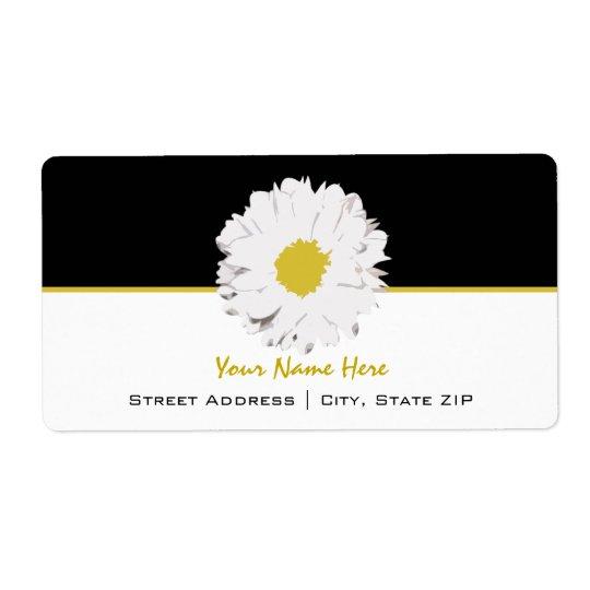 Flower Address Label - Daisy