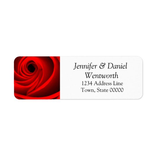 Flower Address Labels Red Rose