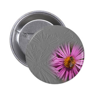 Flower And Bee Button