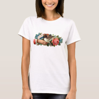 Flower and bird Ladies Baby Doll (Fitted) T-Shirt