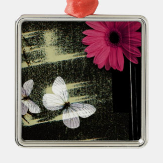 Flower and Butterflies Christmas Tree Ornament