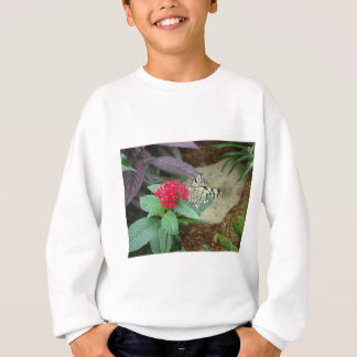 Flower and butterfly sweatshirt