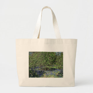 Flower and Nature Landscape Jumbo Tote Bag