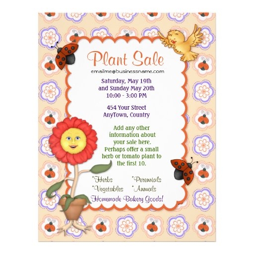 Flower and Plant Sale Flyer