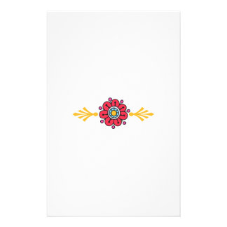 FLOWER AND SCROLLS STATIONERY PAPER