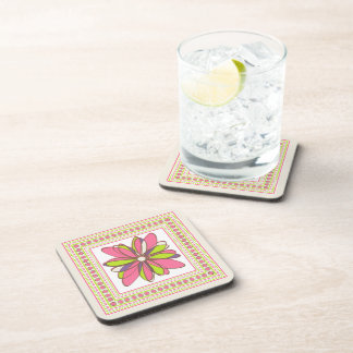 Flower and Square Cork Coasters