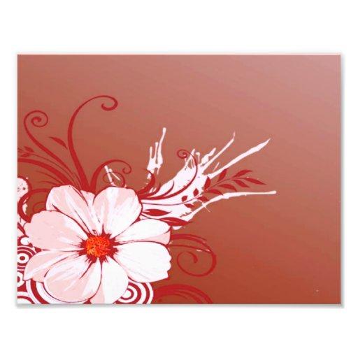 Flower and Swirls Photo Print