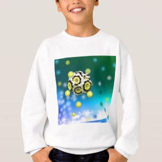 Flower and tennis balls flying on air. sweatshirt