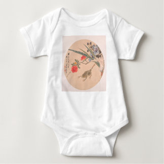 Flower and Toad - Zhang Xiong (Chinese, 1803–1886) Baby Bodysuit