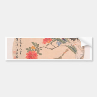 Flower and Toad - Zhang Xiong (Chinese, 1803–1886) Bumper Sticker