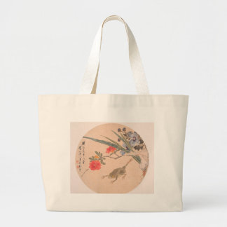 Flower and Toad - Zhang Xiong (Chinese, 1803–1886) Large Tote Bag