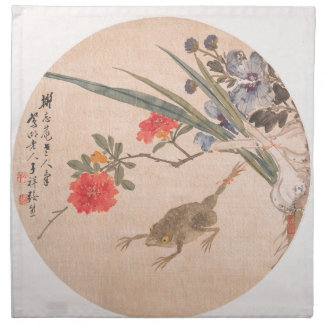 Flower and Toad - Zhang Xiong (Chinese, 1803–1886) Napkin