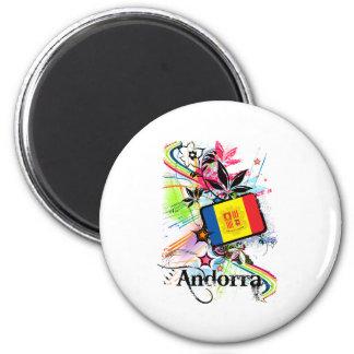 Flower Andorra 6 Cm Round Magnet