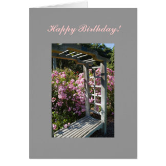 Flower Arbor Custom Template Card