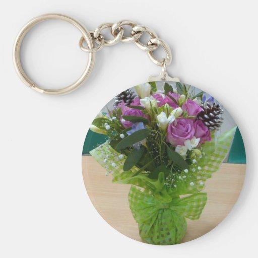 Flower arrangement 5.7cm Basic Button Keychain