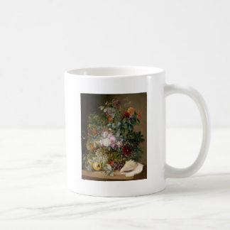 Flower Arrangement and Seashell Coffee Mug