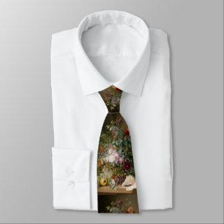 Flower Arrangement and Seashell Tie