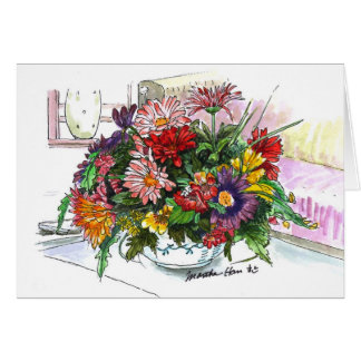 Flower arrangement card