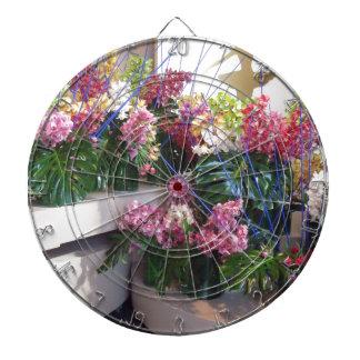 Flower arrangement dartboards