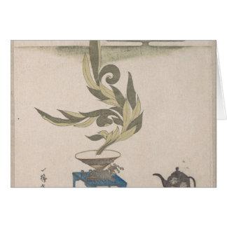 Flower Arrangement - Utagawa Itchinsai Card