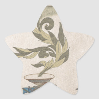 Flower Arrangement - Utagawa Itchinsai Star Sticker