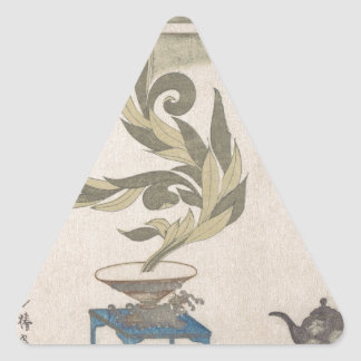 Flower Arrangement - Utagawa Itchinsai Triangle Sticker
