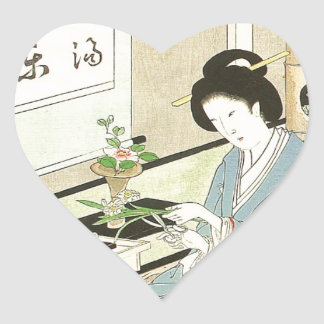 Flower Arranging and Tea Ceremony by Toyohara Heart Sticker