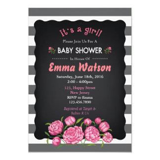 Flower Baby Shower Invitation