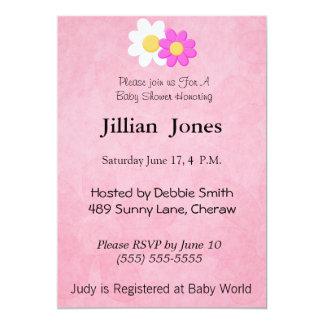 Flower Baby Shower Invitation. 13 Cm X 18 Cm Invitation Card