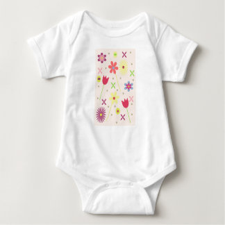 flower background for your text baby bodysuit