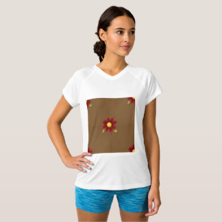 Flower Background Womens Active Tee