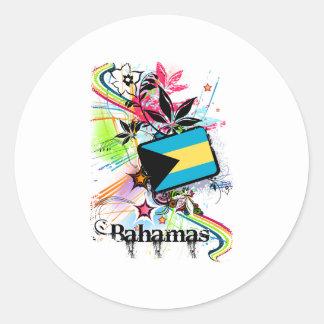 Flower Bahamas Classic Round Sticker