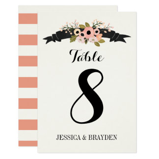 Flower Banner - Table Card