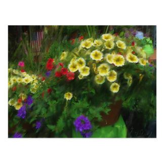 Flower Basket Postcard