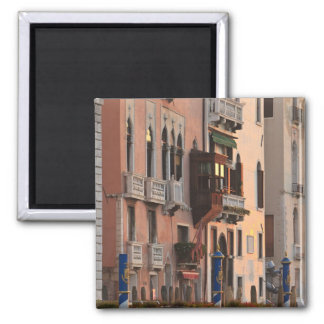 flower baskets and ornate Palace details, Italy Square Magnet