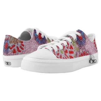 Flower Beaded Low Top Sneakers