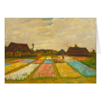 Flower Beds in Holland Blank Greeting Card