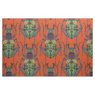 flower beetle orange fabric